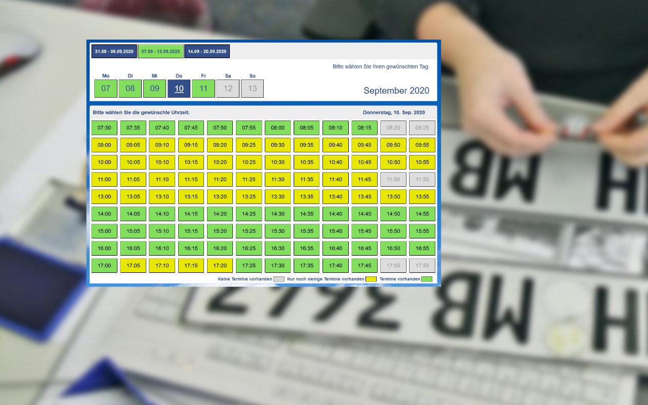Kfz-Zulassungsstelle Gotha Online Terminreservierung